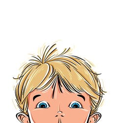 Surprised cute little boy vector image