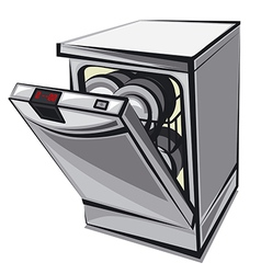dishwasher vector image vector image