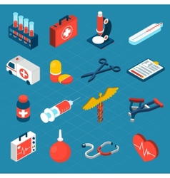 Medical Isometric Icons vector image vector image