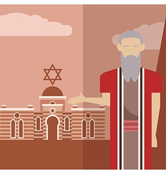 Moses icon 1 vector