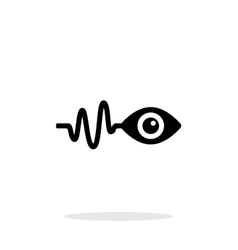 Pulse observation icon on white background vector image