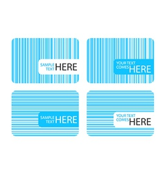 Business cards with blue stripes vector image