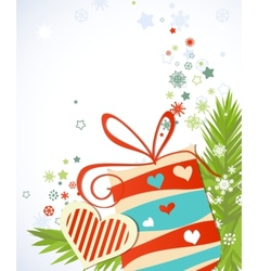 Christmas gift vector image vector image