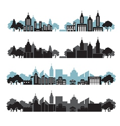 cityscapes set vector image vector image