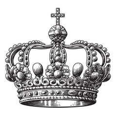 Crown hand-drawn vector