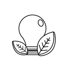 figure save bulb with leaves icon vector image vector image