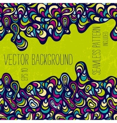 Hand-drawn abstract background vector image