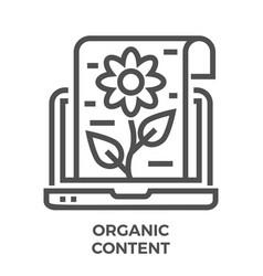 organic content icon vector image