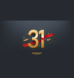 31st year anniversary background vector image