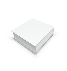 3d white gift box packing for branding vector image