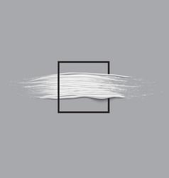 3d white horizontal paint brush stroke vector image