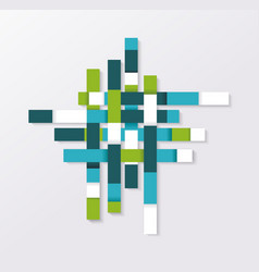 abstract geometric shape from blue green and vector image