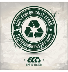 alternative eco label vector image