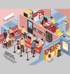Bank office isometric vector