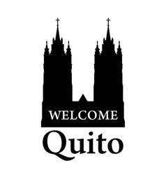 basilica del voto nacional silhouette of vector image