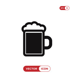 beer jar icon vector image