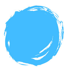 Blue brush stroke circle shape vector