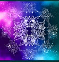 Bohoo lotus flowers vector