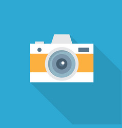 camera icon set of great flat icons with style vector image