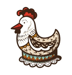 Chicken in egg vector image vector image