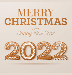 Christmas greeting card with glazed text vector