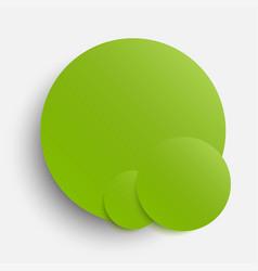 Circles banner greenery around card vector