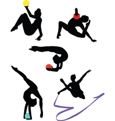 collection of gymnastics vector image
