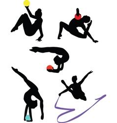 Collection of gymnastics vector