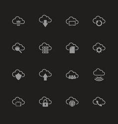 Computer cloud - flat icons vector