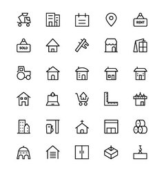 Construction Line Icons 3 vector image