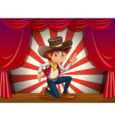 Cowboy on Stage vector image