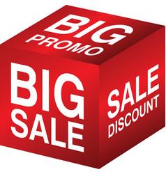 Cube sale promo discount vector
