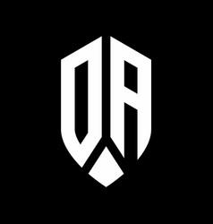 da logo monogram with emblem shield style design vector image
