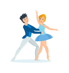 dance of delicate ballet in interesting setting vector image