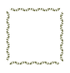 Decorative square frame floral vector