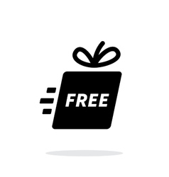 Delivery gift icon on white background vector image
