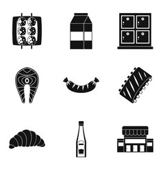 dine icons set simple style vector image