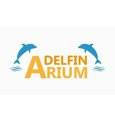 Dolphinarium logo vector