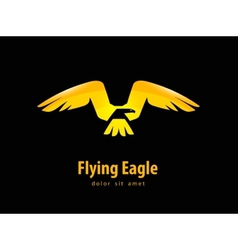 eagle logo design template animal or bird icon vector image