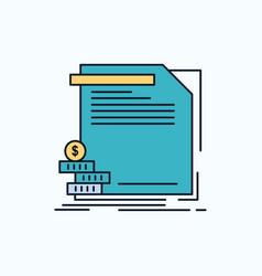 economy finance money information reports flat vector image
