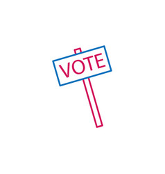 elections vote outline colored icon can be used vector image