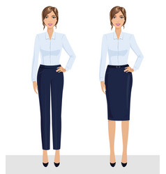 elegant pretty business woman in formal clothes vector image
