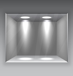 Empty Store Shelf vector image