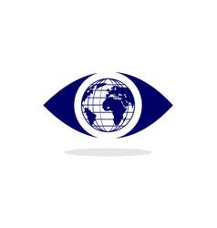 eye world symbol vector image
