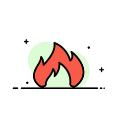 fire heating fireplace spark business flat line vector image