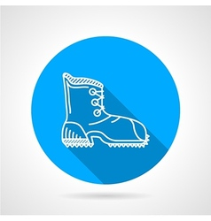 Flat line icon for hike shoe vector