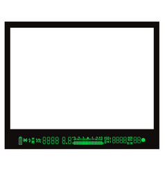 focusing screen or viewfinder of dslr camera vector image