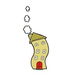 Funny comic cartoon house vector