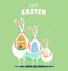 Happy easter day card design vector
