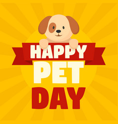 happy pet day concept background flat style vector image
